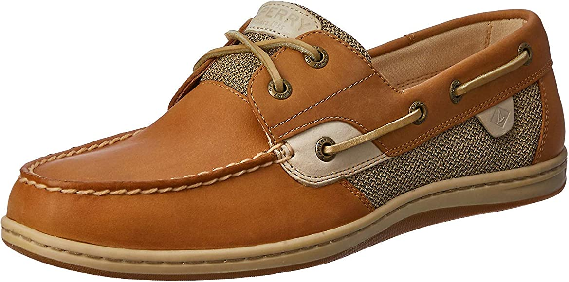 Sperry Womens Koifish Boat Shoe, Linen