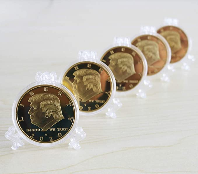 5pcs Gold Coin God Bless The United States And Seal Team Six Gold Plated Coin