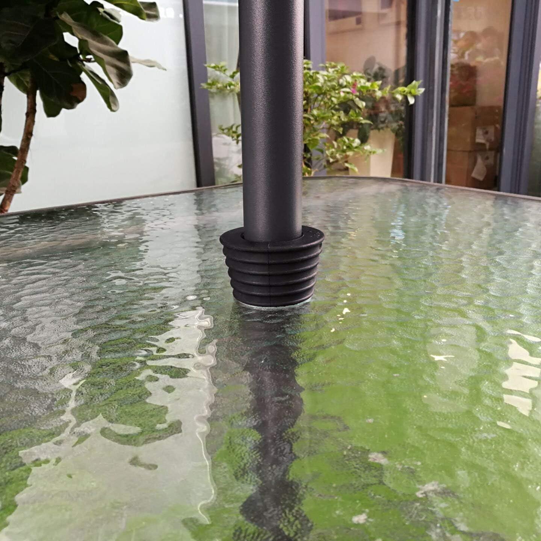 QIQIHOME Umbrella Cone Umbrella Wedge Parasol Base Stand Patio Table Hole Ring Plug Black Black