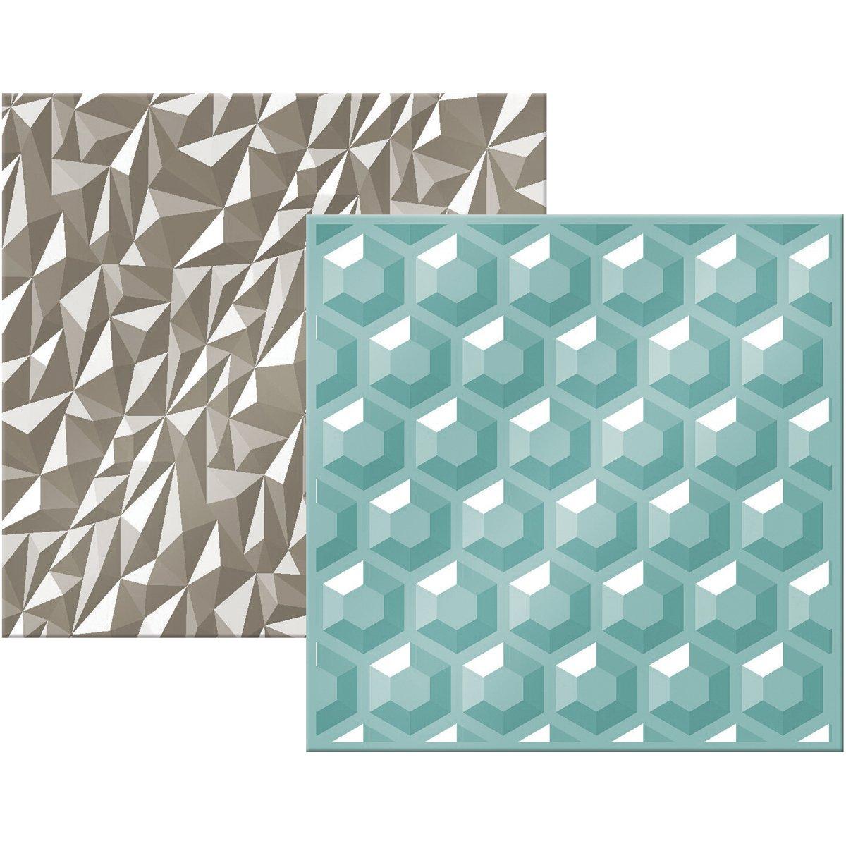 American Crafts Next Level Embossing Folders by We R Memory Keepers-Gemstones