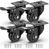 GBL - 2'' Caster Wheels + Screws 440Lbs | Heavy Duty Castor Wheels with Brakes | Dolly Wheels for Furniture Table…