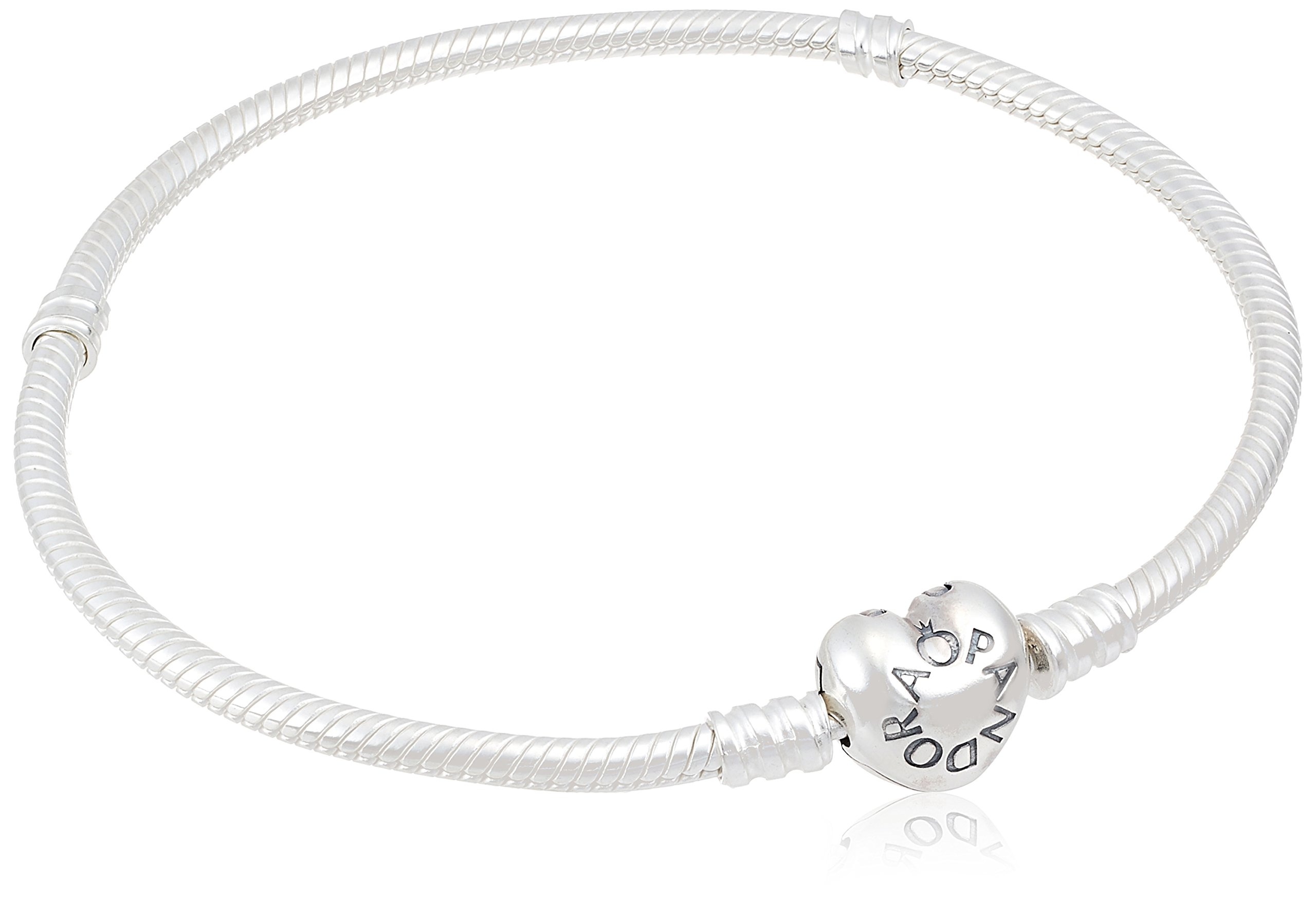 PANDORA-590719-Sterling-Silver-Heart-Clasp-Bracelet-Gift-Box-Included