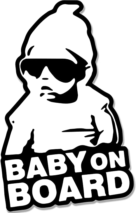 Little Dude Baby On Board Child Window Bumper Car Sign Decal BLACK Sticker UK