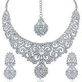 Sukkhi Jewellery Set for Women (White) (1185VN1350-AMZ.)
