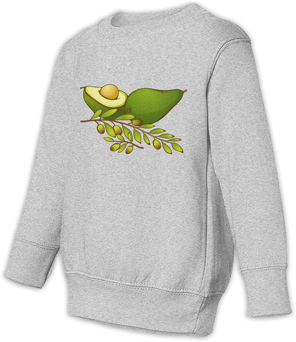 Fleece Pull Over Sweatshirt for Boys Girls Kids Youth Avocado Unisex Toddler Hoodies