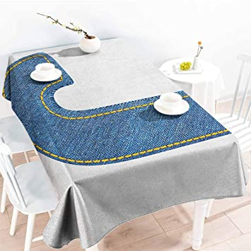 Tremendous Amazon Com Familytaste Letter J Table Covers Blue Jean Theyellowbook Wood Chair Design Ideas Theyellowbookinfo