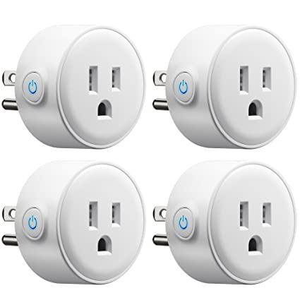 Gmyle 4 Pack Wifi Smart Plug Mini Outlet Power Control Socket
