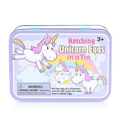 Hatching Unicorn Rainbow Egg Multicolored, Tin of 2 Eggs. Girls Birthday, Stocking Stuffer, Party Favor: Toys & Games [5Bkhe2000327]