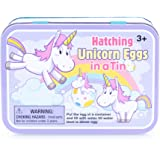 Hatching Unicorn Rainbow Egg Multicolored, Tin of 2 Eggs. Girls Birthday, Stocking Stuffer, Party Favor
