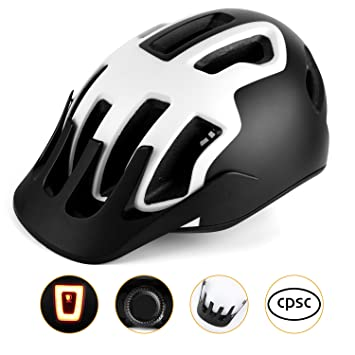 Kinglead - Casco de Bicicleta con luz LED, Protección de ...
