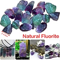 AITELEI 100g Natural Fluorite Gemstone Quartz Crystal Stone Ornament Original Stone Raw for Cabbing, Cutting, Lapidary, Tumbling, Polishing, Wire Wrapping, Wicca and Reiki Crystal Healing
