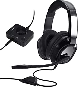 AmazonBasics Premium Gaming Headset for PC and Consoles (Xbox, PS4) with Desktop Mixer - Black