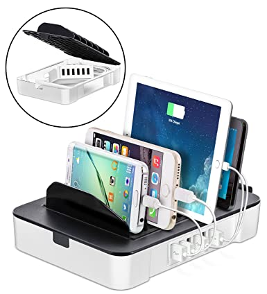 Okra USB Charging Station 6 Port 2 In 1 Organizer + Removable Charging
