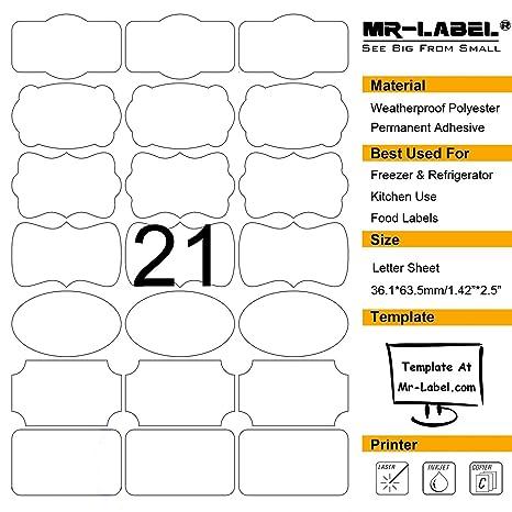 Amazon.com: Mr-Label - 7 tipos de etiquetas adhesivas ...