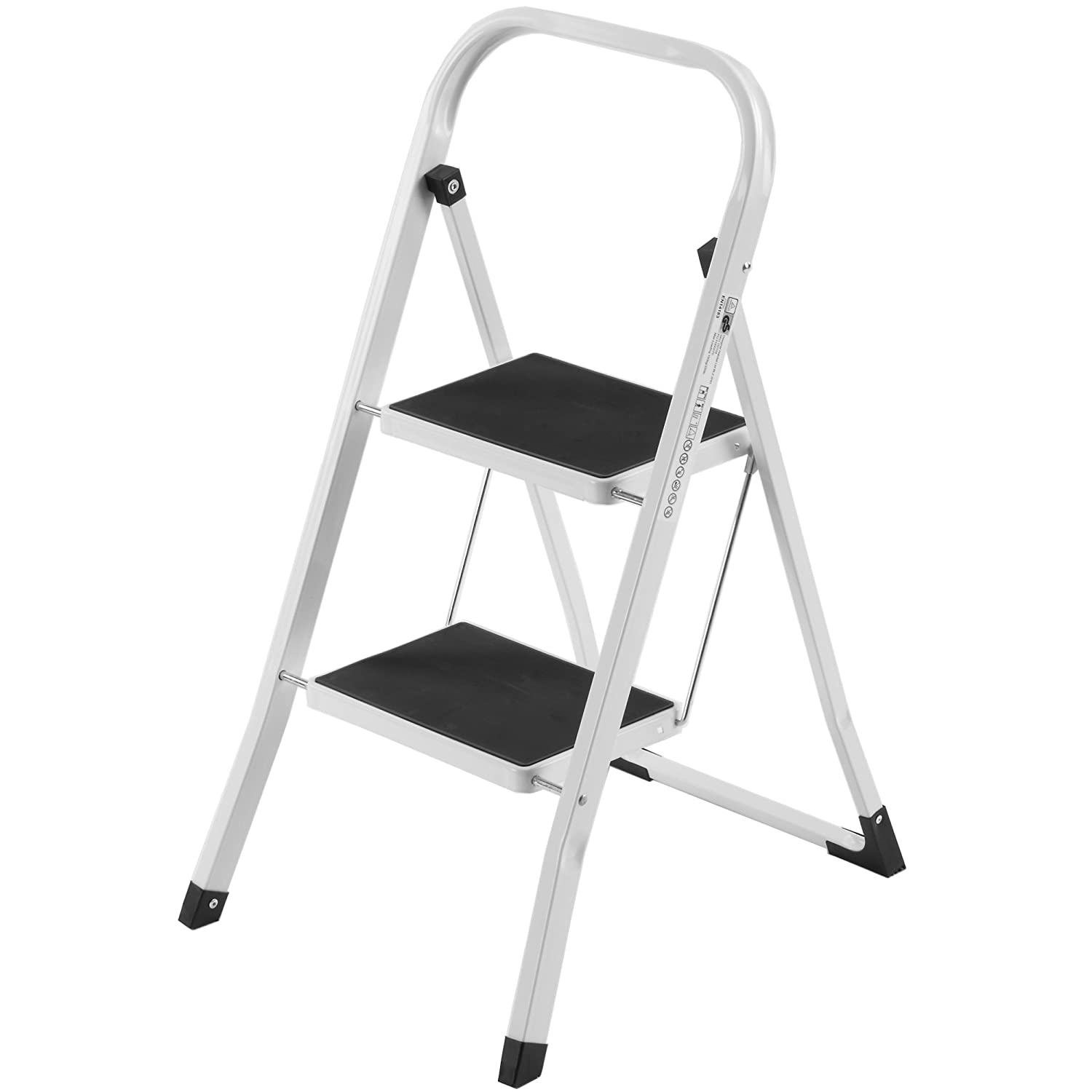 Amazon.com VonHaus Steel Folding Compact Portable 2 Step Ladder with 330lbs Capacity Home Improvement  sc 1 st  Amazon.com & Amazon.com: VonHaus Steel Folding Compact Portable 2 Step Ladder ... islam-shia.org