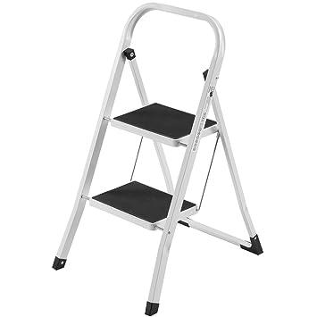 2 step ladder with handrail aluminium bathla platform steel folding compact portable capacity