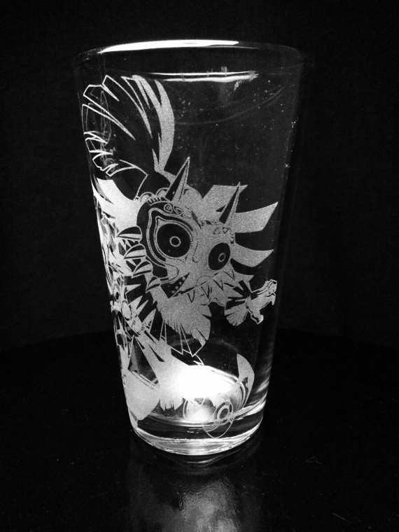 Legend of Zelda Pint Glass Set of 4 by GopherStudios on Etsy