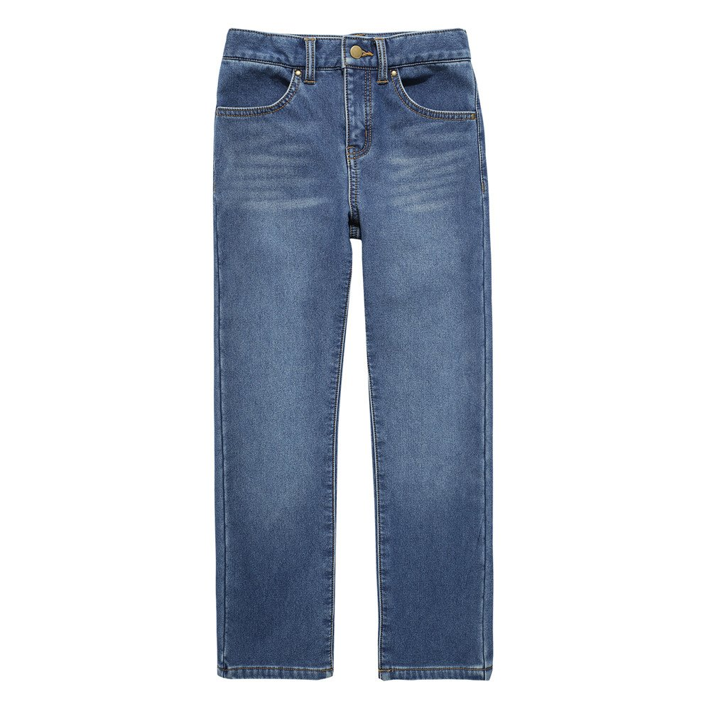 UNACOO Girls Warm and Soft Plus Velvet Jeans with Stretch Straight Leg (Age 3-12 Years)