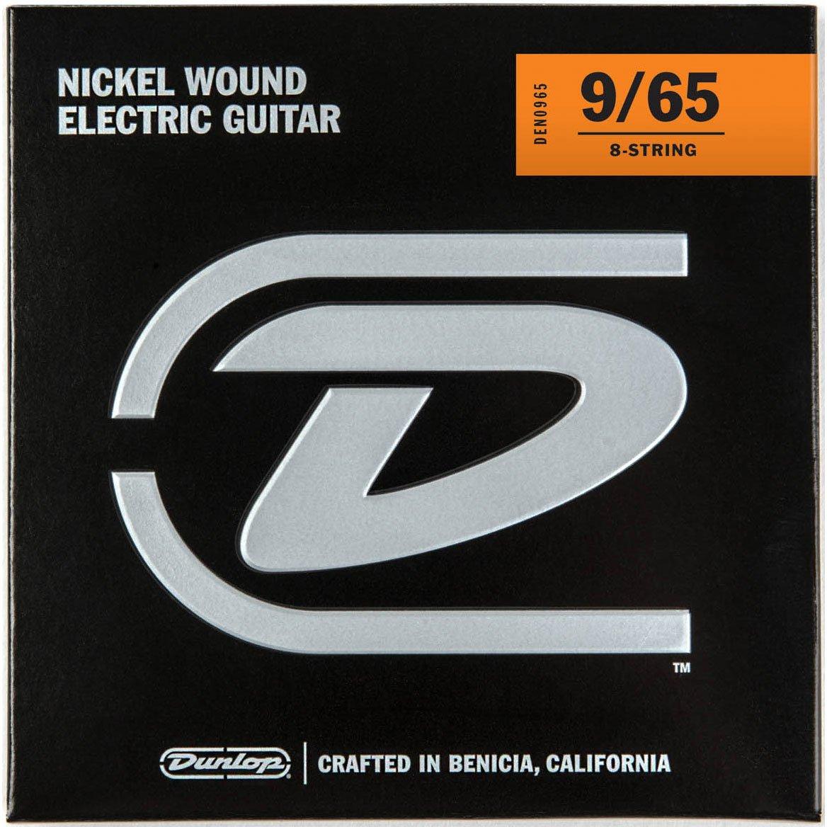 Dunlop DEN0965 Light níquel Wound Cuerdas para guitarra eléctrica (0,09 - 0,65) 8-strings: Amazon.es: Instrumentos musicales