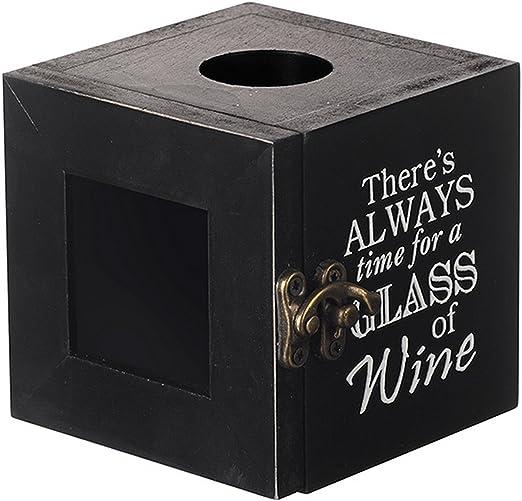 Heaven Sends - Caja de corcho con mensaje Glass Of Wine (8.5 x 8.5 ...