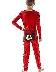 LazyOne Flapjack, Cute Pajamas with Button Flap on Backside, One-Piece Pajamas for Kids