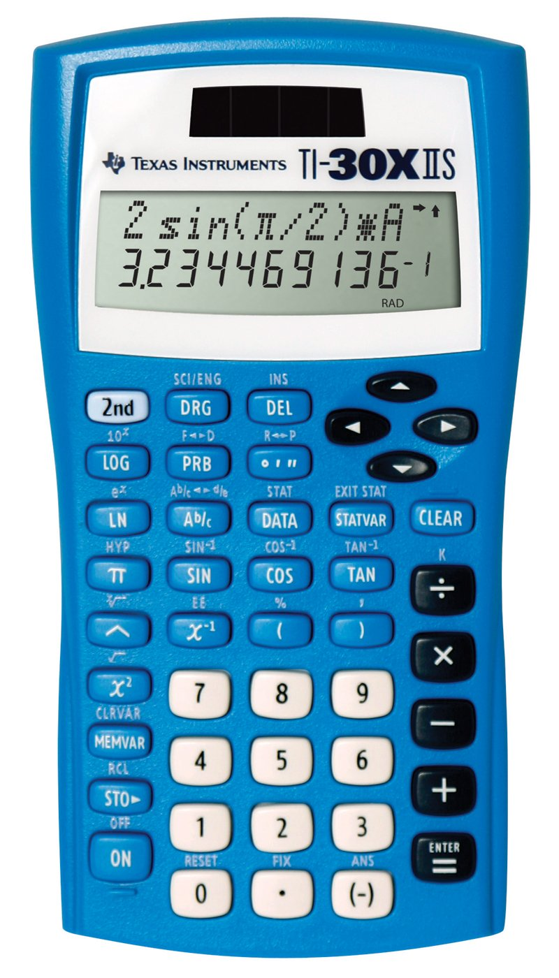 Texas Instruments Fundamental, Two-Line Scientific Calculator, Blue (30XIIS/TBL/1L1/BA)