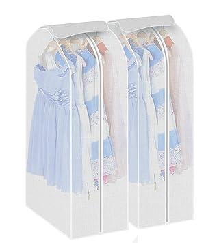 2Stk Kleiderschutzhülle Kleidersack Schutzhülle transparente Kleiderhülle