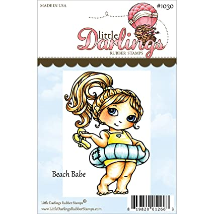 Amazon Little Darlings Cutie Pies Unmounted Rubber Stamp 325