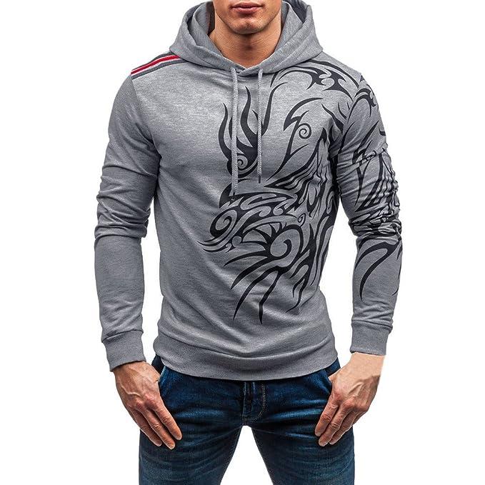 ♚ Sudadera con Capucha para Hombre Impresa, Pulóver Blusa de Manga Larga de Invierno de otoño Casual Camiseta Absolute: Amazon.es: Ropa y accesorios