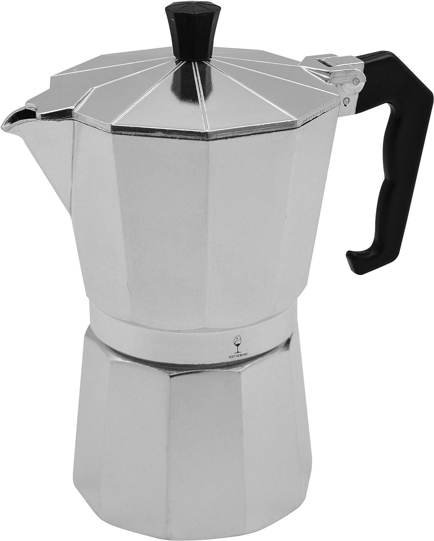 Argon Tableware 6 Cup Italian Style Stove Top Coffee Percolator. Traditional Design