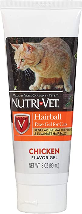 Nutri-Vet Hairball Paw-Gel for Cats, Chicken Flavor, 3-Ounce