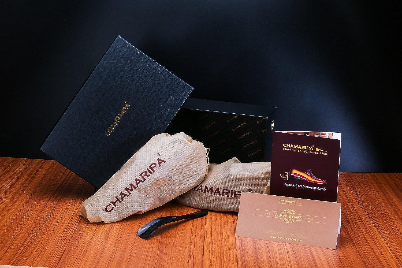 CHAMARIPA Scarpe da Ginnastica Scarpe Sportive Leggero con Tallone Nascosto per Uomo Nero Fino a 7CM H72C11K271D
