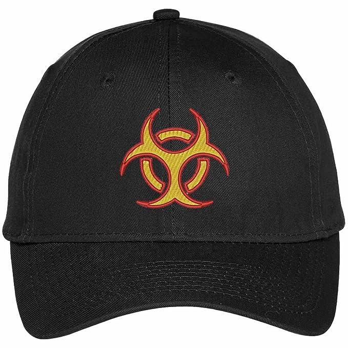 7593e5eb41fa5 Trendy Apparel Shop Biohazard Symbol Embroidered Dad Hat Baseball Cap -  Black