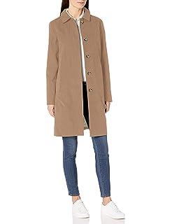 Essentials Womens Water-Resistant Collar Coat