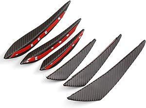Aishun Dtouch Universal Exterior Front Bumper Lip Splitter Fins Spoiler Canards