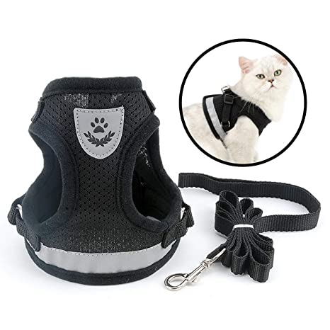 smalllee_lucky_store - de malla suave arnés y correa para gato ...