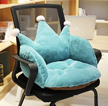 Crown Soft Plush Cushion Comfort Green Seat Pad Office Cozy Warm Seat Pillow Armchair Seat Support Relieves Back Coccyx Sciatica and Tailbone Pain Relief Chair Cushions for Home Office Sofa Wheelchair