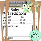 Mason Jar Baby Prediction and Advice Cards, Baby Shower Predictions Cards, Mason Jar Baby Advice, Baby Shower Game…