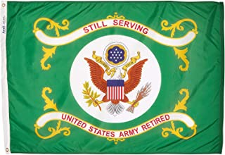 product image for Annin Armed Forces Flag, US Army Retired 3 by 4 Foot