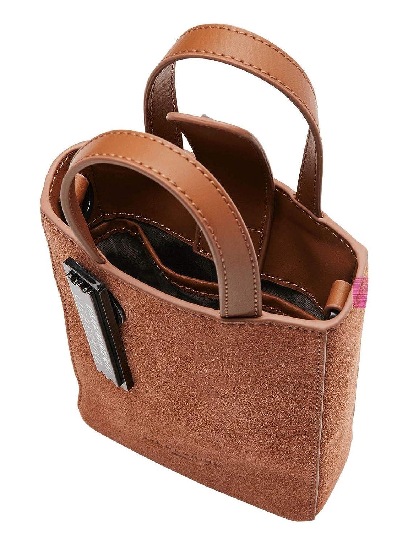Kärleksväska Paper Bag XS handväska läder 17 cm Karamell
