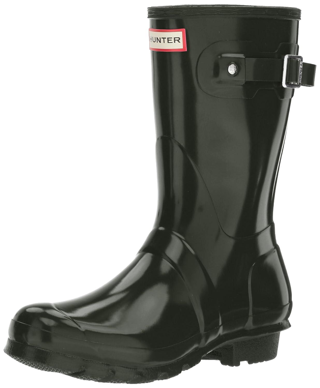 Hunter Women's Original Short Gloss Rain Boots B06Y69VQDC 5 B(M) US|Dark Olive