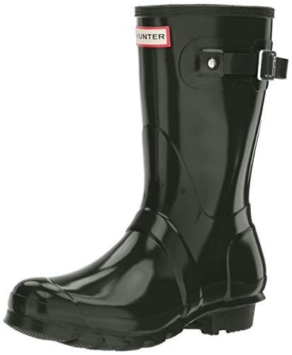 Hunter Damen High Wellington Boots Gummistiefel, Grün (Dark Green/Dov), 36 EU