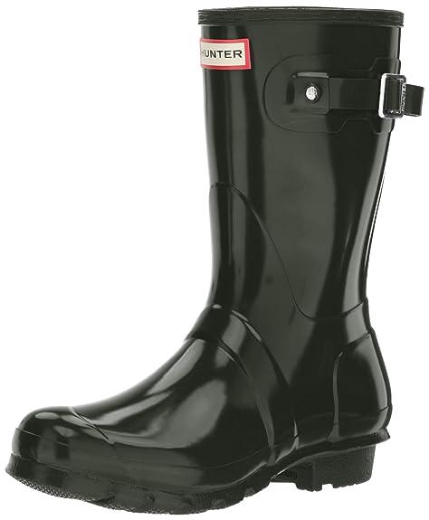 Hunter Womens Original Short Gloss - Stivali di Gomma Non Imbottiti da Donna, Military Red, 36