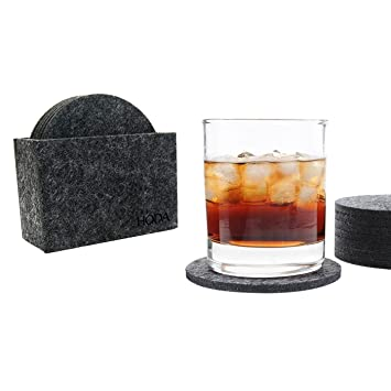 coasters for drinks felt coasters with holder drink coasters absorbent hoda coasters set of 8 - Drink Coasters
