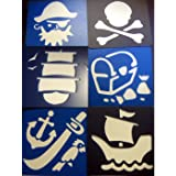 Sturdy Plastic Pirate Stencils