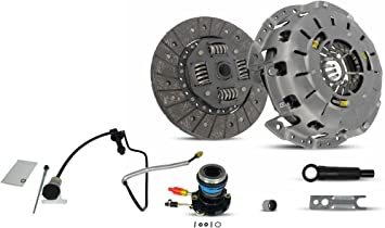 Clutch And Slave Kit With Pre-Bled Clutch Master Cylinder and Line Assembly Works With Ford Ranger Mazda B2300 B2500 B3000 1995-2011 2.3L L4 2.5L L4 3.0L V6 Southeast Clutch Self Adjusting Plate