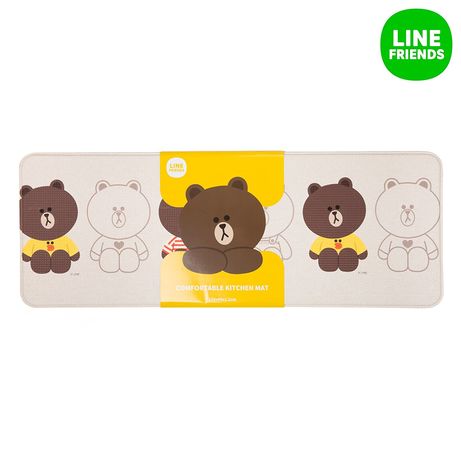 line friends brown kitchen mat large brown clothing