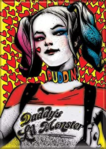"Ata-Boy DC Comics Suicide Squad Harley Quinn 2.5"" x 3.5"" Magnet for Refrigerators and Lockers"