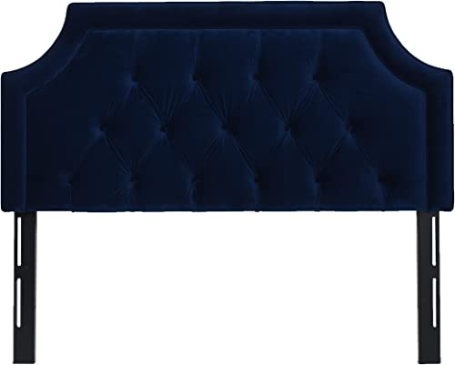 Jennifer Taylor Home Kaye Collection Queen Size Size Modern Adjustable Diamond Tufted Bed Headboard, Queen Size, Navy Blue