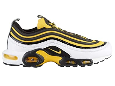 42077814c Amazon.com | Nike Air Max Plus / 97 - Men's White/Tour Yellow/Black Nylon  Running Shoes | Shoes